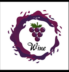 bubble of wine icon image vector image