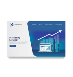 Business marketing strategy spreadsheet on screen vector