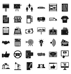Businessman icons set simple style vector