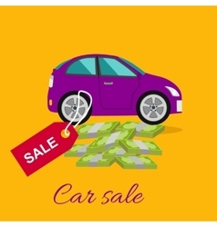 Car Sale Concept vector image