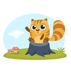 Cartoon squirrel chipmunk vector