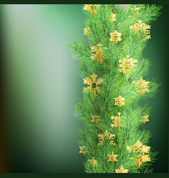 Christmas border made realistic looking pine vector