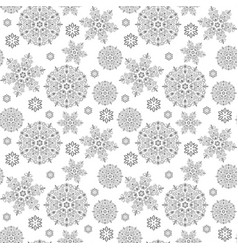christmas seamless pattern with snowflakes new vector image