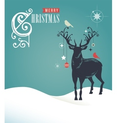 Christmas vintage greeting card retro concept with vector
