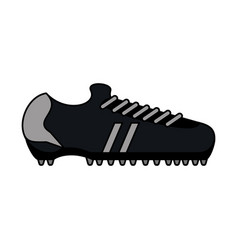 color image cartoon soccer shoes sport equipment vector image