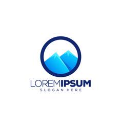 colorful mountain logo design vector image