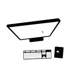 computer black vector image
