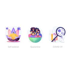 Coronavirus world pandemic abstract concept vector