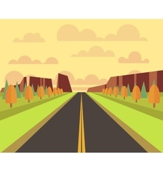 country landscape with road vector image