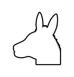 Donkey animal farm pet character icon vector