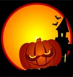 Evil Halloween Pumpkin Scene vector