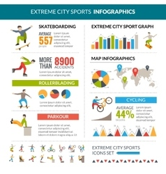 Extreme City Sports Infographics vector