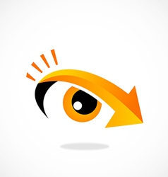 Eyes arrow vision direction logo vector