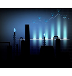 Gas production of financial graph chart vector image vector image