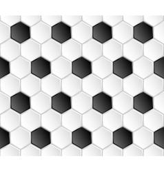 geometric football seamless pattern vector image