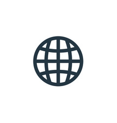 Globe icon simple element for web vector