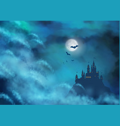 Halloween nightly background vector