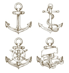 Hand drawn anchor vector