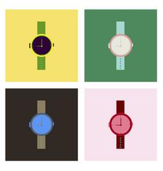 Hand watch icon wristwatch - clock symbol clock vector