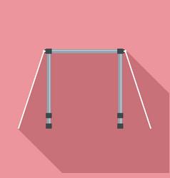 horizontal bar icon flat style vector image