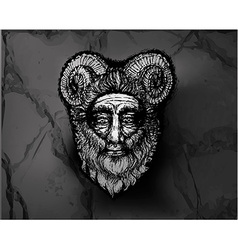 Horned Deity Black vector image