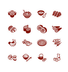 japanese sushi-bar icons - micro series vector image