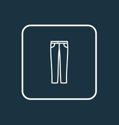jeans icon line symbol premium quality isolated vector image