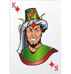 King of diamond Deck romantic graphics cards vector image