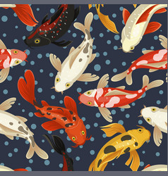 Koi carp pattern japan style traditional design vector