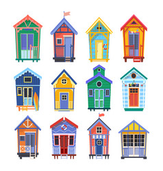 lifeguard bungalows or stations vector image