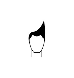male hairstyle iconelement hairstyles icon vector image