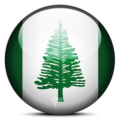 Map on flag button of Territory Norfolk Island vector