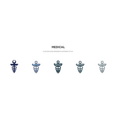 Medical icon in different style two colored vector