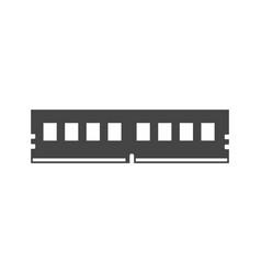 Memory card cartridge bold black silhouette icon vector