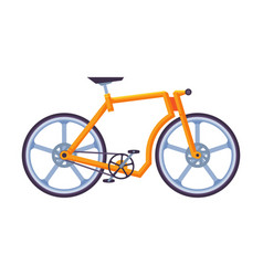 Modern bicycle ecological sport transport orange vector