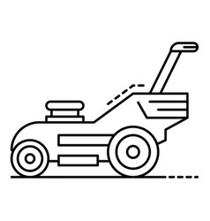 Modern lawn mower icon outline style vector