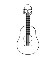 monochrome silhouette of acoustic guitar vector image