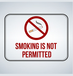 no smoking sign smoking is not permitted isolated vector image