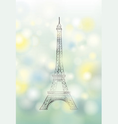 Paris spring background eiffel tower travel vector