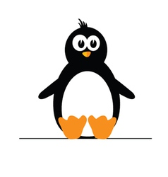 penguin color vector image