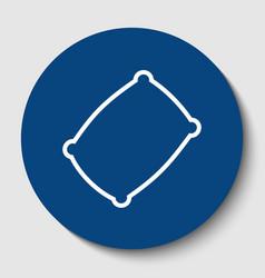 Pillow sign white contour vector