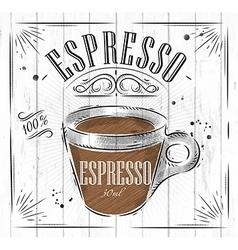 Poster espresso vector