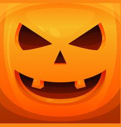 pumpkin head halloween scary background vector image