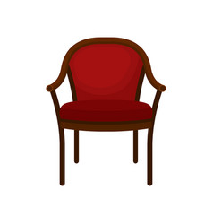retro red soft classic chair comfortable vector image