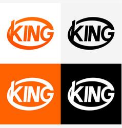 round modern logo king vector image