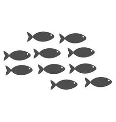School of fish flat icon vector