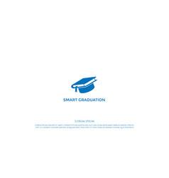 simple minimalist book graduation hat for school vector image