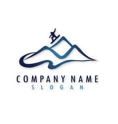 Snowboarding logo vector