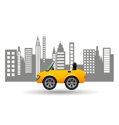 sport car coupe city background design vector image