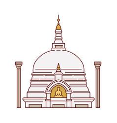 Sri lanka landmark buddhists temple vector